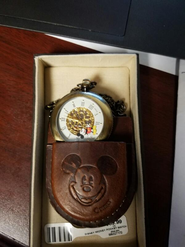 MICKEY MOUSE Pocket Watch VERICHRON QUARTZ POCKET WATCH