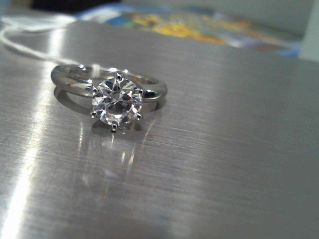 Lady's Platinum-Diamond Solitaire 1.50 CT. 950 Platinum 6.8g