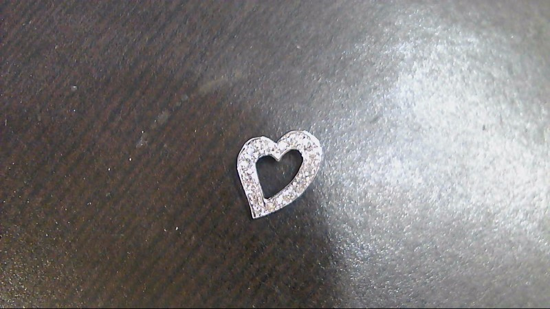 Gold-Multi-Diamond Pendant 16 Diamonds .16 Carat T.W. 14K White Gold 1.2g