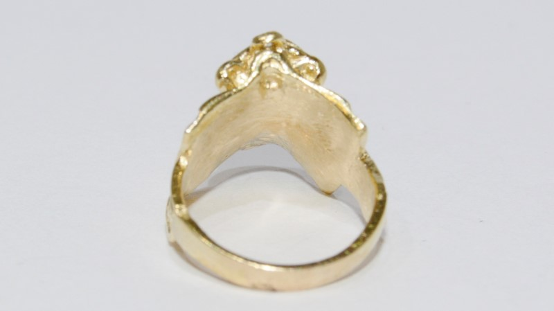 Lady's Diamond Solitaire Ring 14K Yellow Gold