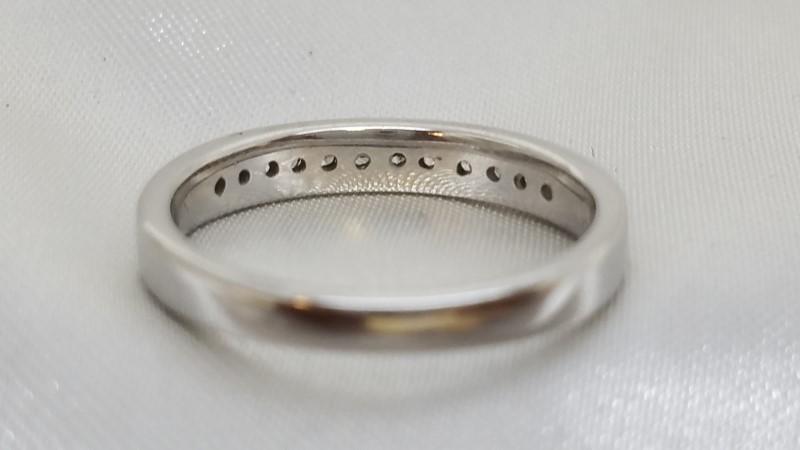 Lady's Diamond Channel Anniversary Ring 12 Diamonds .36 C.T.W. 14K White Gold