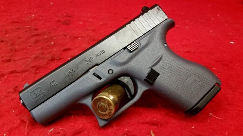 Glock 42 380acp - Gray Frame Pistol - 2 Mags