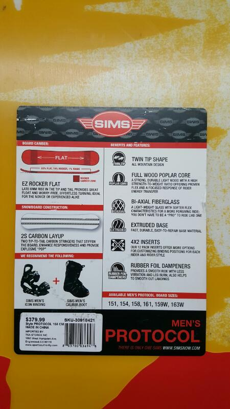 Sims Protocol Silent Giants Artist Series 58 (158cm) Snowboard