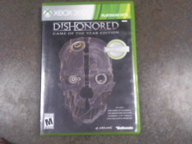 MICROSOFT XBOX 360 Game DISHONORED GAME OF THE YEAR EDITION DISHONORED