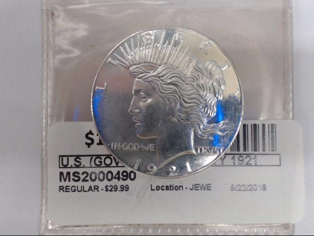 U.S. (GOV'T) Silver Coin LIBERTY 1921