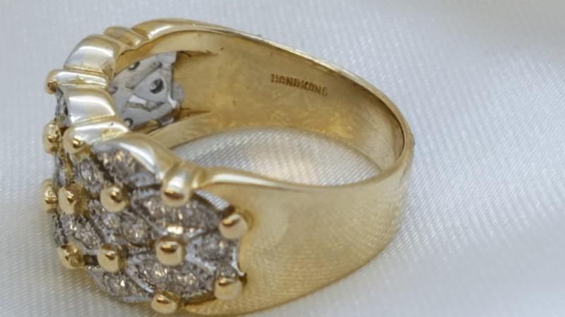 Lady's Diamond Fashion Ring 30 Diamonds .30 Carat T.W. 14K Yellow Gold 4.8g