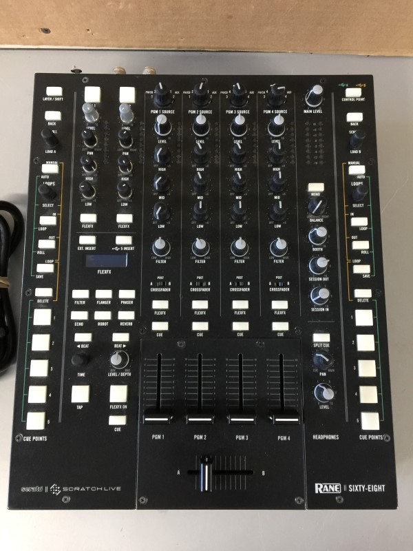 RANE II SIXTY-EIGHT Pro DJ Mixer for Serato Scratch Live AS-IS