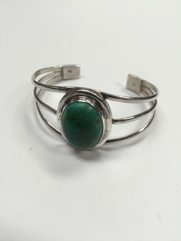 Turquoise Silver-Stone Bracelet 925 Silver 26.7g