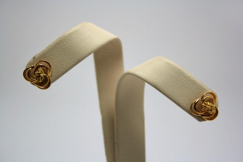 FASHION NUGGET EARRINGS 14K YELLOW GOLD