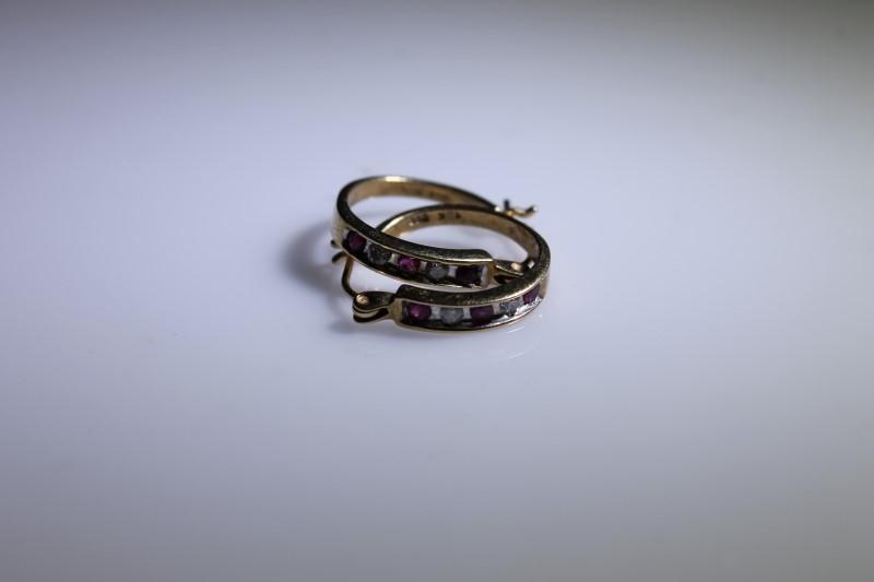Gold Earrings 10K Yellow Gold 2.2g