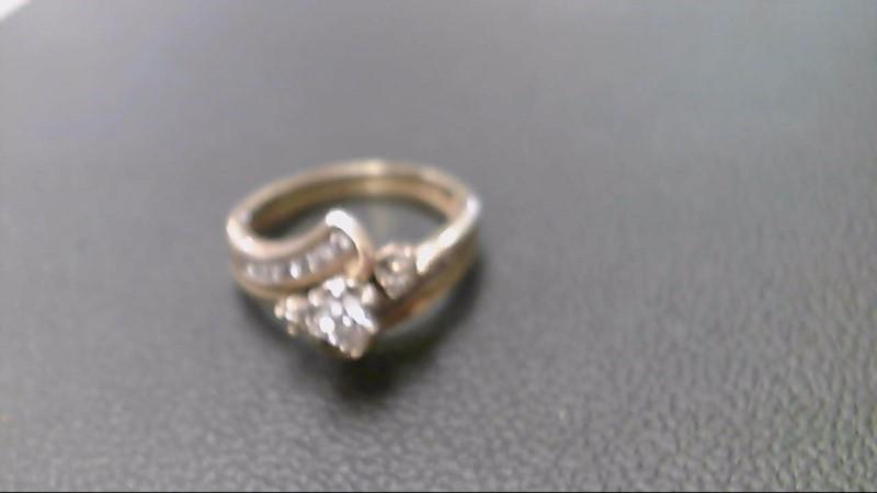 Lady's Diamond Engagement Ring 21 Diamonds .54 Carat T.W. 14K Yellow Gold 5.2g
