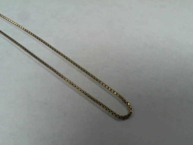 Gold Box Chain 10K Yellow Gold 2.1g