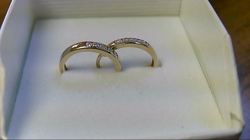 Gold-Diamond Earrings 8 Diamonds .08 Carat T.W. 10K Yellow Gold 2.3g