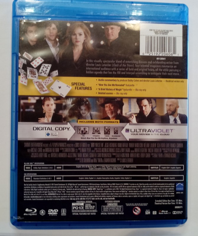 BLU-RAY MOVIE NOW YOU SEE ME