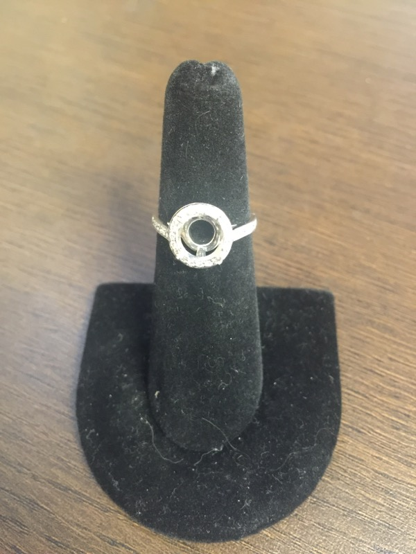 Tiffany & Co. Lady's Platinum-Diamond Engagement Ring Mounting .32 Carat T.W.