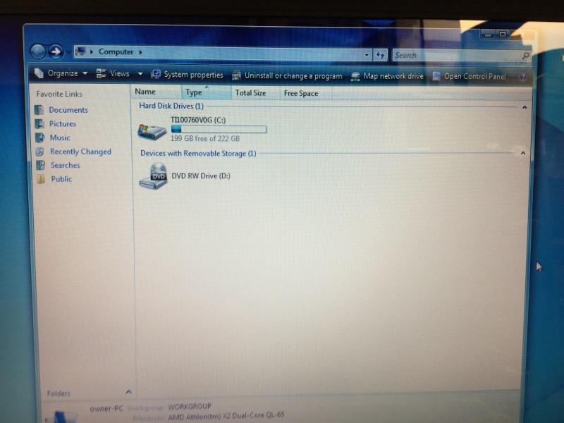 TOSHIBA SATELLITE L505D-S5965 WIN VISTA,250GB HD,3GB RAM,AMD@2.10GHz