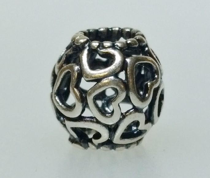 Authentic Pandora 925 ALE Open Your Heart Silver European Charm 790964
