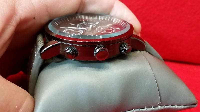 Titanium Men's Chronograph Watch - Leather Band