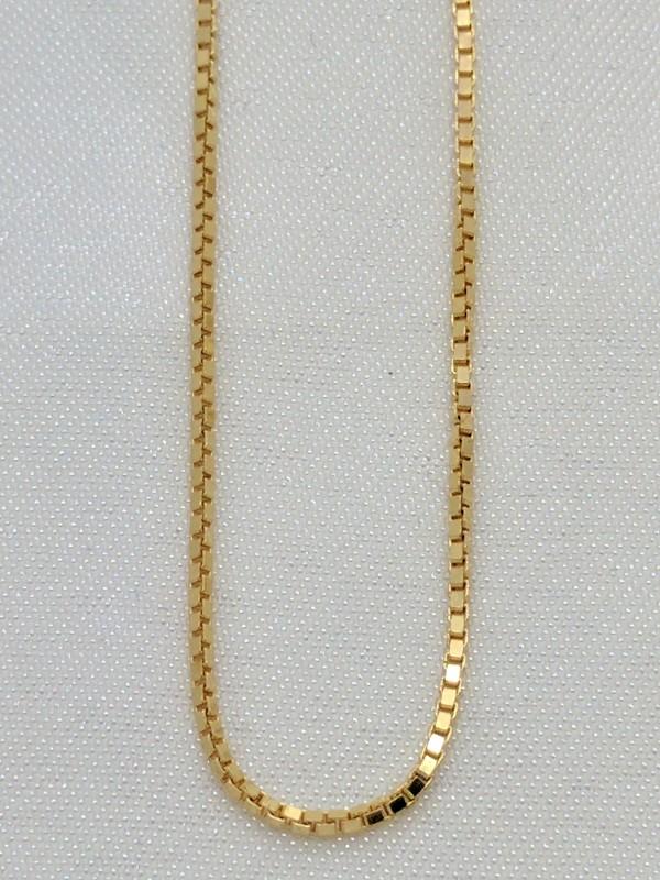 "18"" Gold Box Chain 14K Yellow Gold 3.1g"