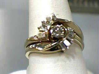 Lady's Diamond Wedding Set 11 Diamonds .50 Carat T.W. 14K Yellow Gold 3.8dwt