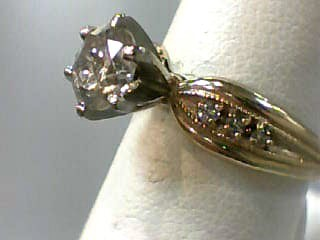 Lady's Diamond Solitaire Ring 7 Diamonds 1.15 Carat T.W. 14K Yellow Gold 3dwt