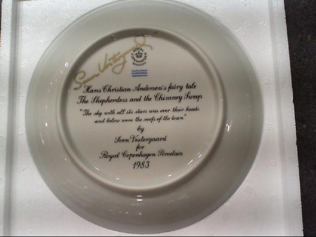 HANS CHRISTIAN ANDERSEN'S ROYAL COPENHAGEN PLATE 1983 SIGNED