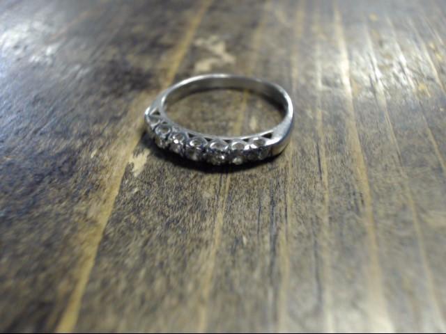 Lady's Platinum Diamond Cluster 6 Diamonds .06 Carat T.W. 999 Platinum 3g