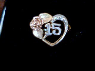 Lady's Gold Ring 14K Tri-color Gold 3.5g
