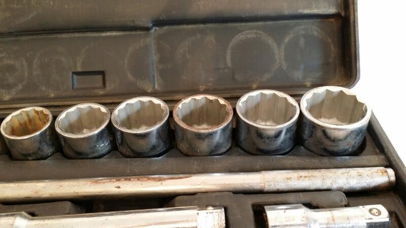 "Allied Tools Socket Ratchet Set - 3/4"" 21pcs Standard 7/8"" - 2"""