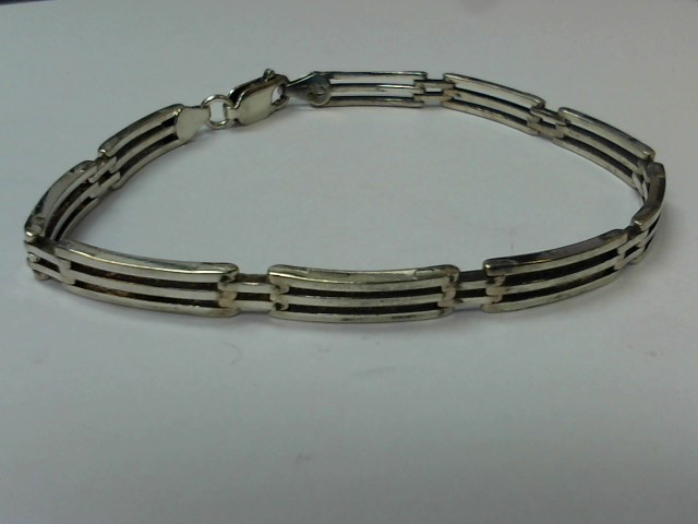 Silver Link Bracelet 925 Silver 12.4g