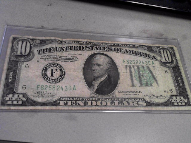 UNITED STATES Paper Money - World 1934 A $10 BILL