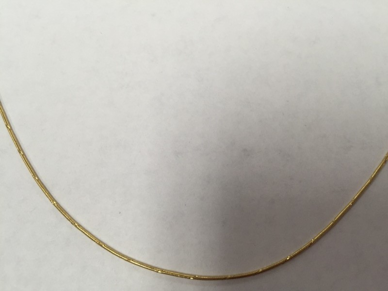 "21"" Gold Snake Chain 14K Yellow Gold 4.1g"