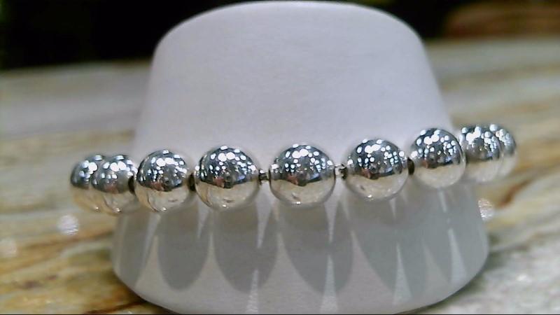 Silver Silpada Large Beaded Bracelet 925 Silver 30.9g