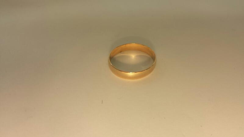 Gent's Gold Wedding Band 14K Yellow Gold 1.3dwt Size:9