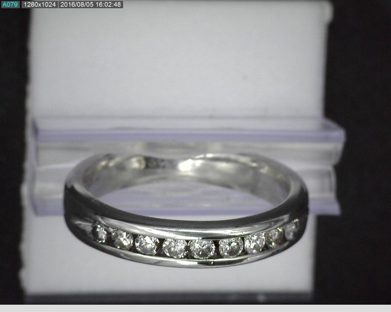 PLATINUM 9 DIAMOND BAND .45CTW SZ 4.75