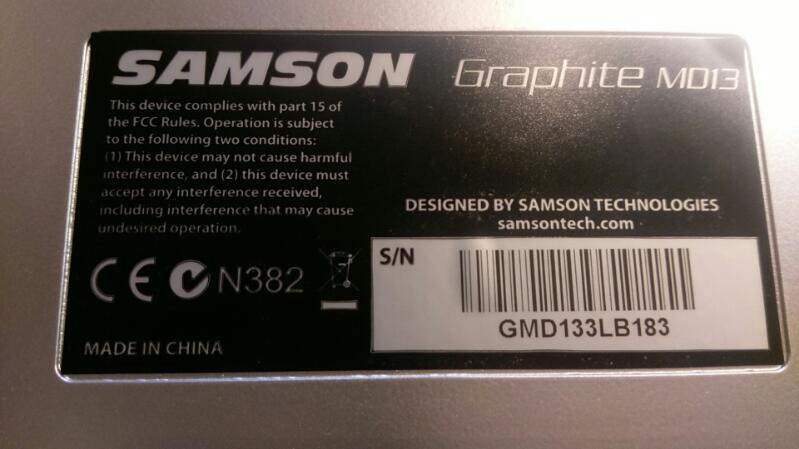 Samson Graphite MD13 USB 13 Pad Portable MIDI Controller