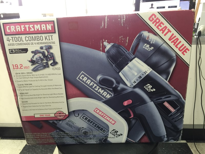 *NEW* Craftsman 17410 19.2V C3 Cordless 4pc Combination Tool Kit