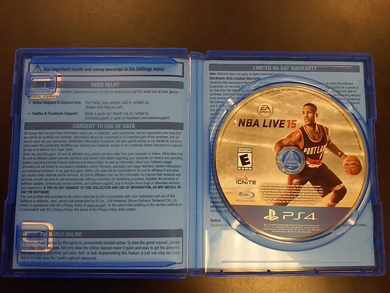 SONY PLAYSTATION4 Sony PlayStation 4 Game NBA LIVE15