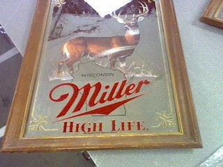 MILLER HIGH LIFE WHITE TAIL DEER MIRROR