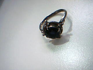 Blue Stone Lady's Silver & Stone Ring 925 Silver 2.6g