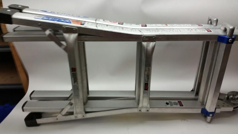 Werner Model: MT-13 13' Folding Step Ladder-14' Reach With 300LB Capacity