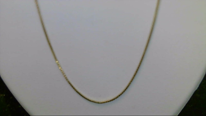 Lady's sterling silver 925 gold plated adjustable box chain