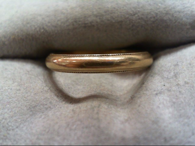 Lady's Gold Wedding Band 14K Yellow Gold 2.1g