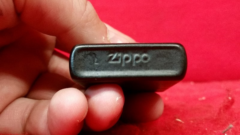 Vintage ZIPPO Marlboro Man Silhouette Matte Black Lighter
