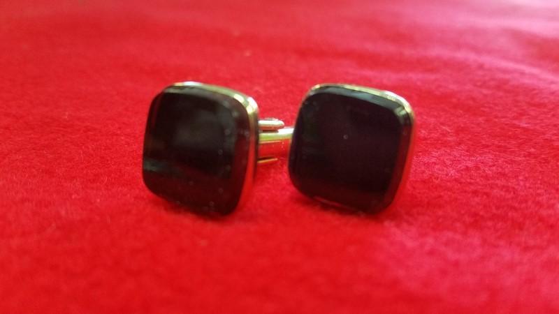 HickOK Vintage Cufflinks - Deep Red Stones - Cuff Links