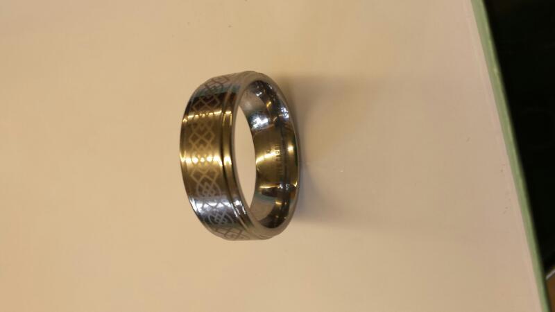 Gent's Ring Silver Tungsten 16.38dwt