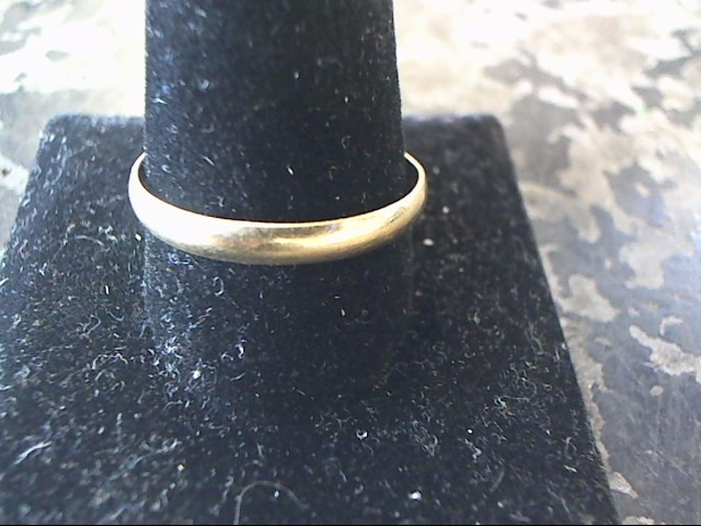 Gent's Gold Wedding Band 10K Yellow Gold 1.3dwt Size:14