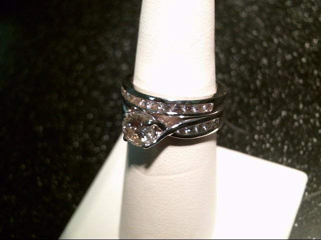 Lady's Diamond Wedding Set 25 Diamonds 1.47 Carat T.W. 14K White Gold 9.1g