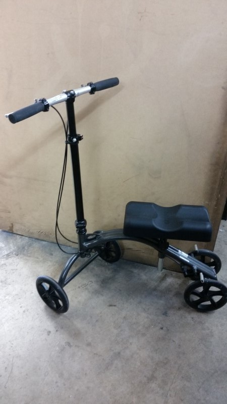 Drive Steerable Knee Walker Scooter / Crutch Replacement, Turning