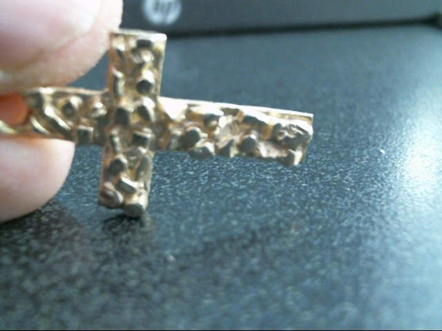 14KT Gold Pendant CROSS 14K Yellow Gold 2.4dwt